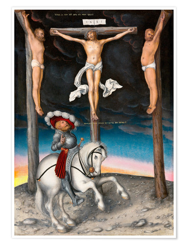 Premium poster The Crucifixion with the converted Captain