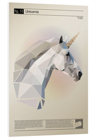 Foam board print  fig13 Polygoneinhorn Poster - Labelizer