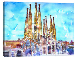 Canvas  A turquoise heaven above the Sagrada Familia in Barcelona Catalonia - M. Bleichner
