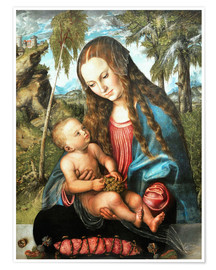 Premium poster Madonna under the fir tree