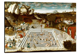 Alu-Dibond  The fountain of youth - Lucas Cranach d.Ä.