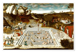 Premium poster  The fountain of youth - Lucas Cranach d.Ä.