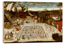 Wood print  The Fountain of Youth - Lucas Cranach d.Ä.