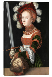 Canvas print  Judith with the Head of Holofernes - Lucas Cranach d.Ä.