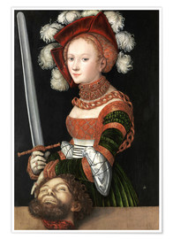 Premium poster Judith with the Head of Holofernes