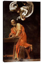 Canvas print  The Inspiration of St. Matthew - Michelangelo Merisi (Caravaggio)