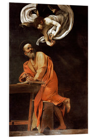Foam board print  The inspiration of St Matthew - Michelangelo Merisi (Caravaggio)