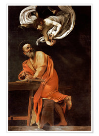 Premium poster  The inspiration of St Matthew - Michelangelo Merisi (Caravaggio)
