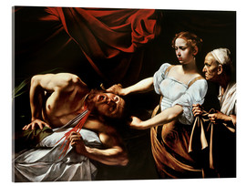 Acrylic glass  Judith and Holofernes - Michelangelo Merisi (Caravaggio)