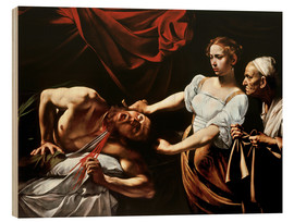Wood print  Judith and Holofernes - Michelangelo Merisi (Caravaggio)