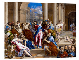 Acrylic print  Christ expels traders from the temple - Dominikos Theotokopoulos (El Greco)