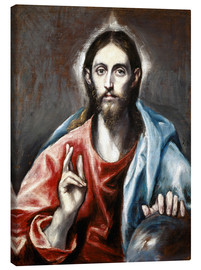 Canvas print  The Redeemer - Dominikos Theotokopoulos (El Greco)