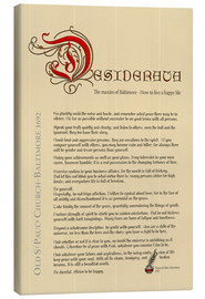 Canvas  Desiderata English - Dirk h. Wendt