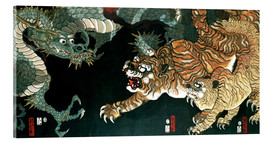 Utagawa Sadahide - A dragon and two tigers