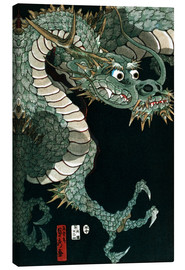 Canvas print  A dragon - Utagawa Sadahide
