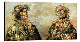 Aluminium print  A anthropomorphosic profile of a man and a woman - Giuseppe Arcimboldo