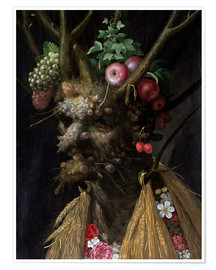 Premium poster  Four Seasons in One Head - Giuseppe Arcimboldo