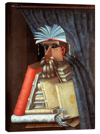 Canvas print  The librarian - Giuseppe Arcimboldo