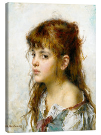 Canvas print  Portrait of a young Girl - Alexei Alexevich Harlamoff
