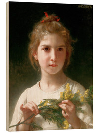 Wood print  The flowering mimosa - William Adolphe Bouguereau