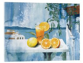 Acrylic glass  Glass with oranges - Franz Heigl