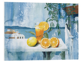 Foam board print  Glass with oranges - Franz Heigl