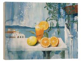 Wood  Glass with oranges - Franz Heigl