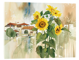 Acrylic print  Sunflower greetings - Franz Heigl