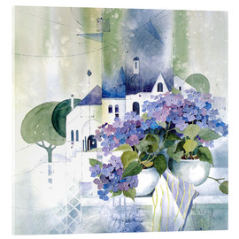 Acrylic glass  Hydrangeas - Franz Heigl