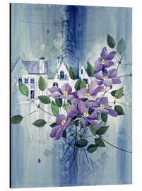Aluminium print  View with clematis - Franz Heigl