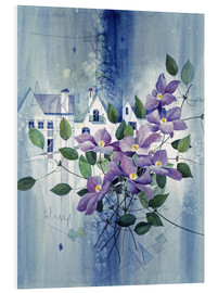 Foam board print  View with clematis - Franz Heigl