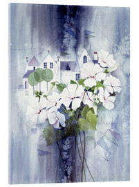 Acrylic print  View with sweet peas - Franz Heigl