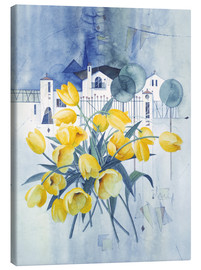 Canvas print  View with tulips - Franz Heigl