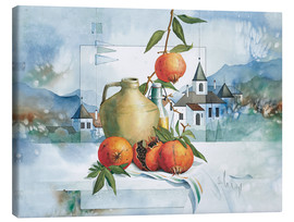 Franz Heigl - Still life with pomegranates