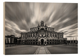 Wood print  Semperoper Dresden - Robin Oelschlegel