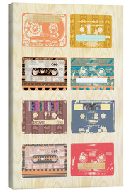 Canvas print  Vintage Tapes Collage - GreenNest