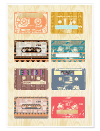 Premium poster Vintage Tapes Collage