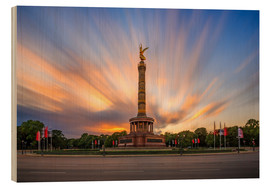 Wood print  Chick on a stick - Victory Column - Photovojac