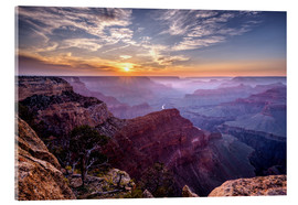 Acrylic glass  Sunset at Grand Canyon - Daniel Heine