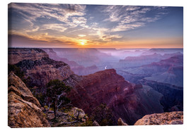 Canvas print  Sunset at Grand Canyon - Daniel Heine