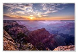 Premium poster Sunset at Grand Canyon