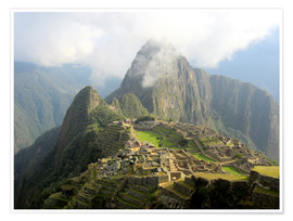 Premium poster Macchu Picchu The Lost City of the Incas