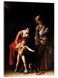 Acrylic glass  Madonna with the Serpent - Michelangelo Merisi (Caravaggio)