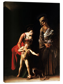 Canvas print  Madonna with the Serpent - Michelangelo Merisi (Caravaggio)