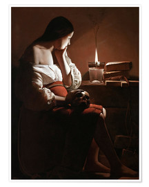 Premium poster  The Magdalen with the Smoking Flame - Georges de la Tour