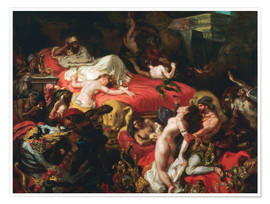 Premium poster The Death of Sardanapalus