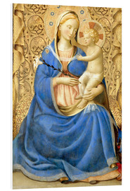 Foam board print  Madonna with Child - Fra Angelico