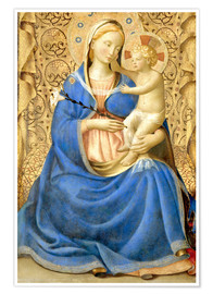 Premium poster  Madonna with Child - Fra Angelico