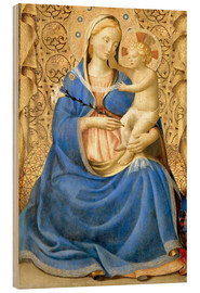 Wood print  Madonna with Child - Fra Angelico