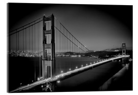 Acrylic print  Golden Gate Bridge in the Evening - Melanie Viola